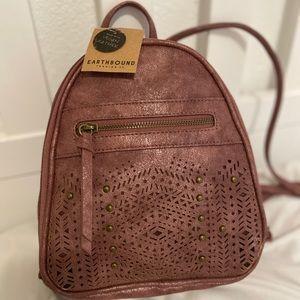 Vegan leather mauve pink mini backpack purse NWT